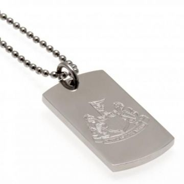 Newcastle United Engraved Crest Dog Tag & Chain